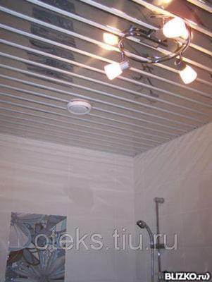 Алюминиевый реечный подвесной потолок краснодар цена