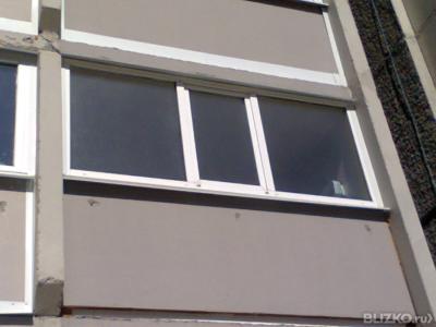 Лоджия 3 метра в 2 стекла с монтажом в городе тюмень - по....