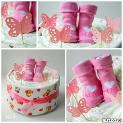Подарок на 1 годик девочке из памперсов