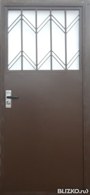 металлическая дверь в общий тамбур с окном