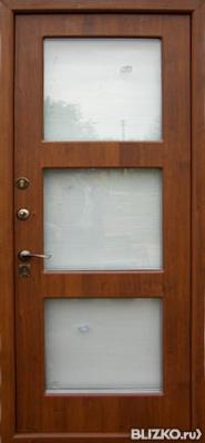 металлическая дверь со стеклом фирмы