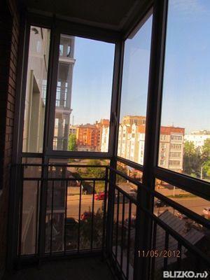 Остекление балкона, алюминиевые распашные рамы - хрущевка в .