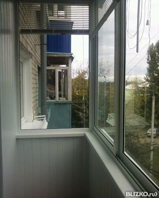 "Остекление балкона типа ""хрущевка"" - алюминий от компании на."