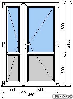 Распашные балконные двери оптимальный размер.