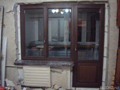 Балконный блок пвх коричневый с ламинацией купить в свердлов.