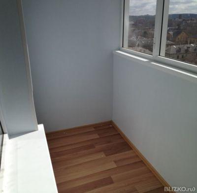 Покраска стен и потолка из гипсокартона на лоджии 3х1 м в ек.