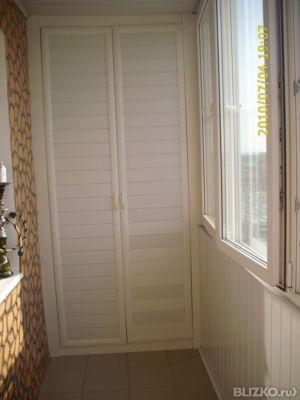Шкаф (пенал) для балкона, цвет белый от компании лика-мебель.