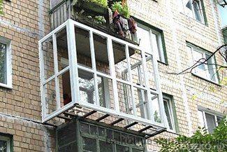 Вынос балкона за периметр плиты от компании оконный стиль ку.